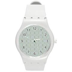 Vintage Ornate Pattern Round Plastic Sport Watch (m)