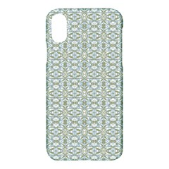 Vintage Ornate Pattern Apple Iphone X Hardshell Case