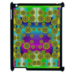 Celtic Mosaic With Wonderful Flowers Apple Ipad 2 Case (black)
