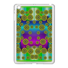Celtic Mosaic With Wonderful Flowers Apple Ipad Mini Case (white)