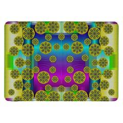 Celtic Mosaic With Wonderful Flowers Samsung Galaxy Tab 8 9  P7300 Flip Case