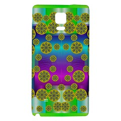 Celtic Mosaic With Wonderful Flowers Galaxy Note 4 Back Case