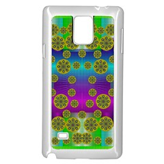 Celtic Mosaic With Wonderful Flowers Samsung Galaxy Note 4 Case (white)