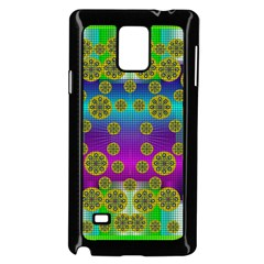 Celtic Mosaic With Wonderful Flowers Samsung Galaxy Note 4 Case (black)