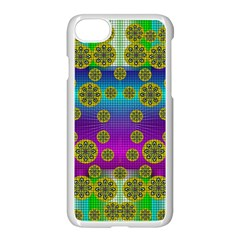 Celtic Mosaic With Wonderful Flowers Apple Iphone 7 Seamless Case (white)