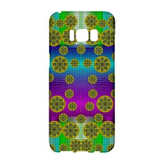 Celtic Mosaic With Wonderful Flowers Samsung Galaxy S8 Hardshell Case