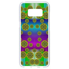 Celtic Mosaic With Wonderful Flowers Samsung Galaxy S8 White Seamless Case