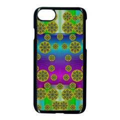 Celtic Mosaic With Wonderful Flowers Apple Iphone 8 Seamless Case (black)