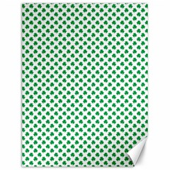 Green Shamrock Clover On White St  Patrick s Day Canvas 12  X 16