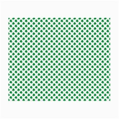 Green Shamrock Clover On White St  Patrick s Day Small Glasses Cloth (2 Side)