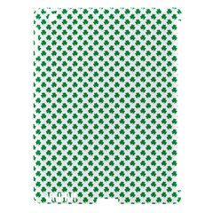 Green Shamrock Clover On White St  Patrick s Day Apple Ipad 3/4 Hardshell Case (compatible With Smart Cover)