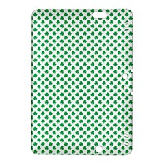 Green Shamrock Clover On White St  Patrick s Day Kindle Fire Hdx 8 9  Hardshell Case