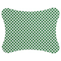 Green Shamrock Clover On White St  Patrick s Day Jigsaw Puzzle Photo Stand (bow)