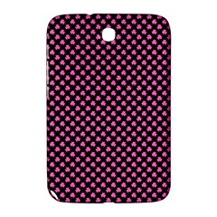 Small Hot Pink Irish Shamrock Clover On Black Samsung Galaxy Note 8 0 N5100 Hardshell Case