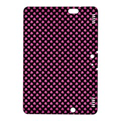 Small Hot Pink Irish Shamrock Clover On Black Kindle Fire Hdx 8 9  Hardshell Case