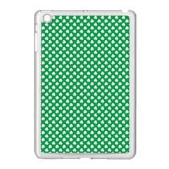 White Shamrocks On Green St  Patrick s Day Ireland Apple Ipad Mini Case (white)