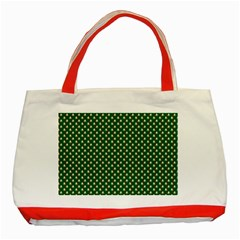 Irish Flag Green White Orange On Green St  Patrick s Day Ireland Classic Tote Bag (red)