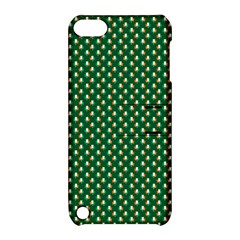 Irish Flag Green White Orange On Green St  Patrick s Day Ireland Apple Ipod Touch 5 Hardshell Case With Stand