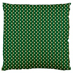 Irish Flag Green White Orange On Green St  Patrick s Day Ireland Large Flano Cushion Case (two Sides)