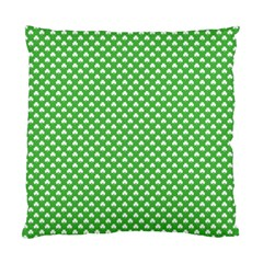 White Heart Shaped Clover On Green St  Patrick s Day Standard Cushion Case (two Sides)