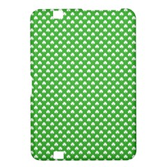 White Heart Shaped Clover On Green St  Patrick s Day Kindle Fire Hd 8 9