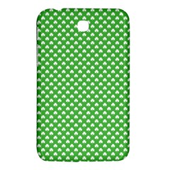 White Heart Shaped Clover On Green St  Patrick s Day Samsung Galaxy Tab 3 (7 ) P3200 Hardshell Case