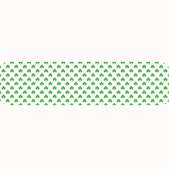 Green Heart Shaped Clover On White St  Patrick s Day Large Bar Mats