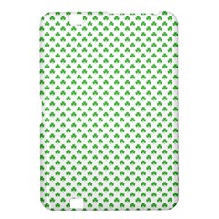Green Heart Shaped Clover On White St  Patrick s Day Kindle Fire Hd 8 9