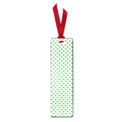 Green Heart Shaped Clover On White St  Patrick s Day Small Book Marks