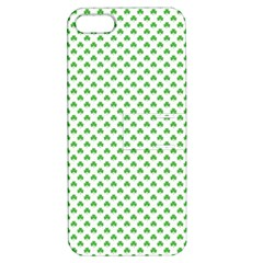 Green Heart Shaped Clover On White St  Patrick s Day Apple Iphone 5 Hardshell Case With Stand