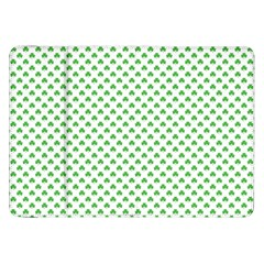 Green Heart Shaped Clover On White St  Patrick s Day Samsung Galaxy Tab 8 9  P7300 Flip Case