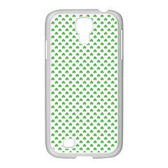 Green Heart Shaped Clover On White St  Patrick s Day Samsung Galaxy S4 I9500/ I9505 Case (white)