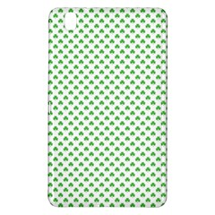 Green Heart Shaped Clover On White St  Patrick s Day Samsung Galaxy Tab Pro 8 4 Hardshell Case