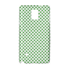 Green Heart Shaped Clover On White St  Patrick s Day Samsung Galaxy Note 4 Hardshell Case