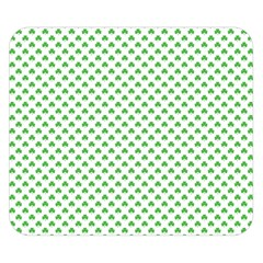 Green Heart Shaped Clover On White St  Patrick s Day Double Sided Flano Blanket (small)
