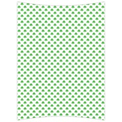 Green Heart Shaped Clover On White St  Patrick s Day Back Support Cushion