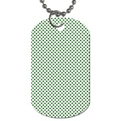 Shamrock 2 Tone Green On White St Patrick?¯s Day Clover Dog Tag (one Side)