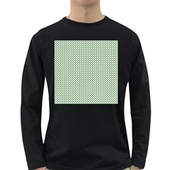 Shamrock 2 Tone Green On White St Patrick?¯s Day Clover Long Sleeve Dark T Shirts