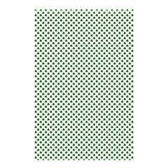 Shamrock 2 Tone Green On White St Patrick?¯s Day Clover Shower Curtain 48  X 72  (small)