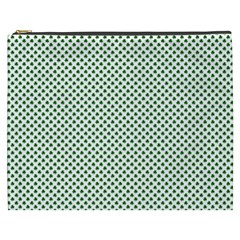 Shamrock 2 Tone Green On White St Patrick?¯s Day Clover Cosmetic Bag (xxxl)