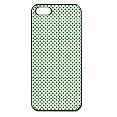 Shamrock 2 Tone Green On White St Patrick?¯s Day Clover Apple Iphone 5 Seamless Case (black)