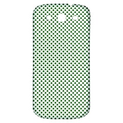 Shamrock 2 Tone Green On White St Patrick?¯s Day Clover Samsung Galaxy S3 S Iii Classic Hardshell Back Case