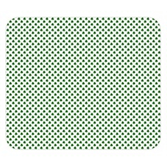 Shamrock 2 Tone Green On White St Patrick?¯s Day Clover Double Sided Flano Blanket (small)