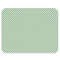 Shamrock 2 Tone Green On White St Patrick?¯s Day Clover Double Sided Flano Blanket (medium)