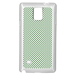 Shamrock 2 Tone Green On White St Patrick?¯s Day Clover Samsung Galaxy Note 4 Case (white)