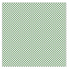 Shamrock 2 Tone Green On White St Patrick?¯s Day Clover Large Satin Scarf (square)
