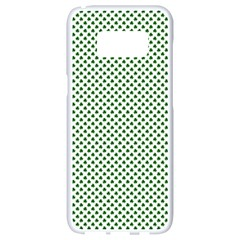 Shamrock 2 Tone Green On White St Patrick?¯s Day Clover Samsung Galaxy S8 White Seamless Case