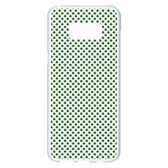 Shamrock 2 Tone Green On White St Patrick?¯s Day Clover Samsung Galaxy S8 Plus White Seamless Case