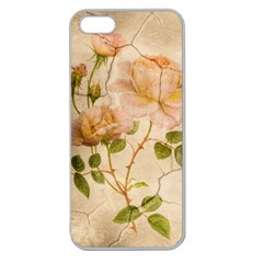 Rose Flower 2507641 1920 Apple Seamless Iphone 5 Case (clear)