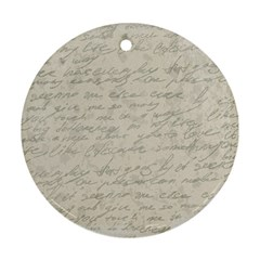 Handwritten Letter 2 Ornament (round)